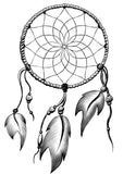 Dream catcher jewellery pendant or necklace symbol image