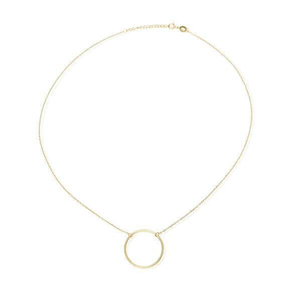 Women's Gold Circle Charm Necklace - G.D.Morgan Jewellery Collection