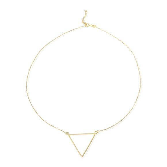 Women's Gold Triangle Charm Necklace - G.D.Morgan Jewellery Collection