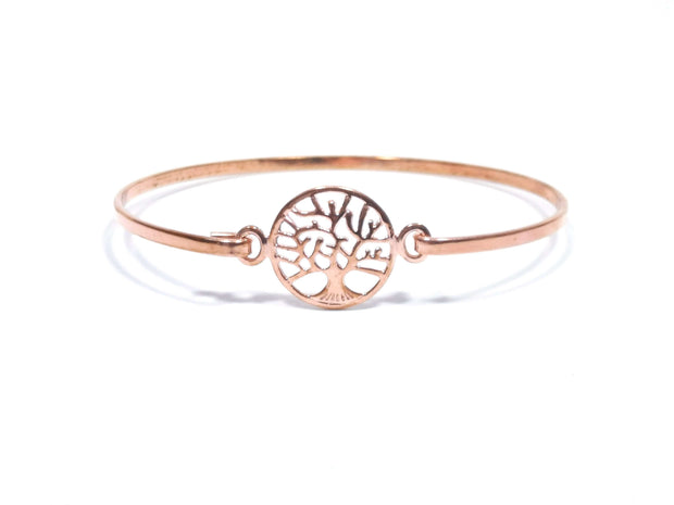 Rose Gold Tree Of Wisdom Bangle