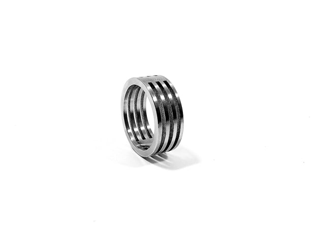 Stainless Steel Open Stripe Ring