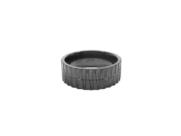 Black Jagged Edge Ring