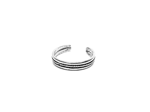 Sterling Silver Rope Groove Toe Ring