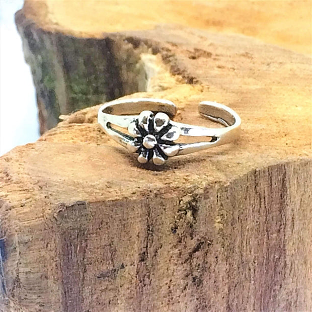 Sterling Silver Flower Toe Ring - G.D.Morgan Jewellery Collection