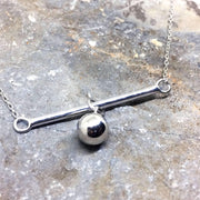 Sterling Silver Ball & Bar Charm Necklace - G.D.Morgan Jewellery Collection
