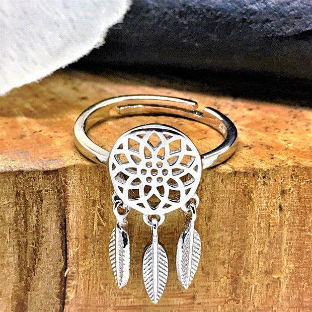 dream catcher spiritual symbol ring