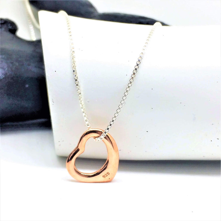 Open Heart Rose Gold Necklace - G.D.Morgan Jewellery Collection