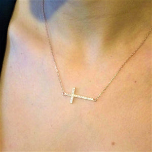 Rose Gold Cross Necklace - G.D.Morgan Jewellery Collection