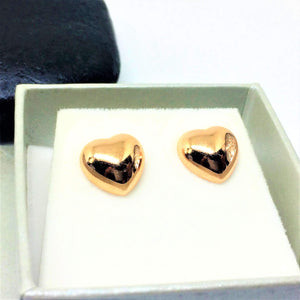 Rose Gold Heart Stud Earrings - G.D.Morgan Jewellery Collection