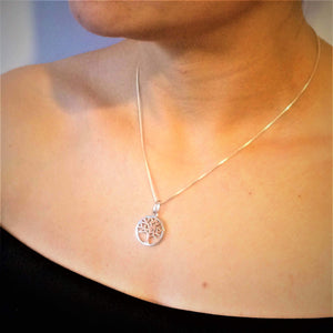Rose Gold Tree of Life Necklace - G.D.Morgan Jewellery Collection
