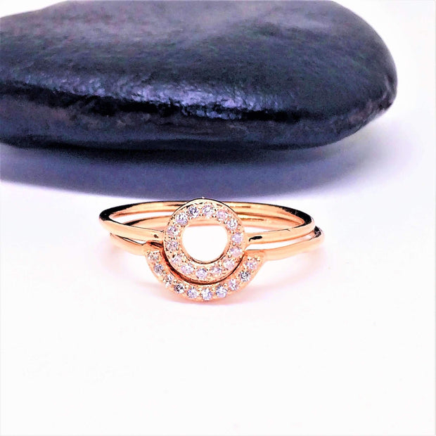Rose Gold Two Piece Midi Ring - G.D.Morgan Jewellery Collection
