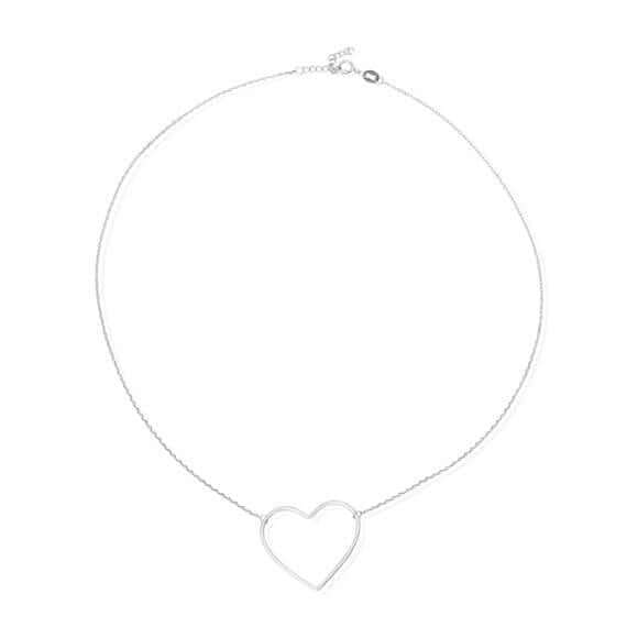Women's Sterling Silver Heart Charm Necklace - G.D.Morgan Jewellery Collection
