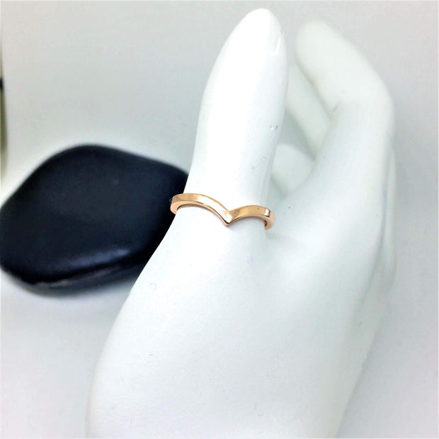 Wishbone Midi Ring - G.D.Morgan Jewellery Collection
