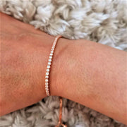 Rose Gold Lariat CZ Tennis Bracelet