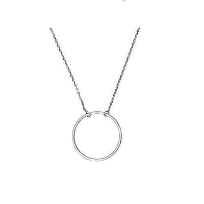 Women's Sterling Silver Circle Charm Necklace