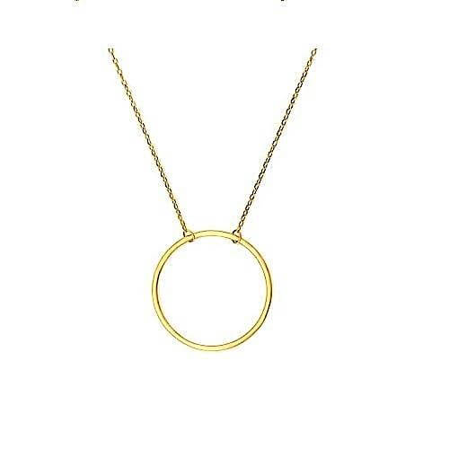 Women's Gold Circle Charm Necklace