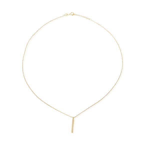 Women's Gold Bar Charm Necklace - G.D.Morgan Jewellery Collection