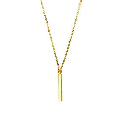 Women's Gold Bar Charm Necklace