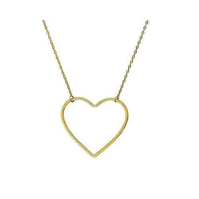 Women's Gold Heart Charm Necklace