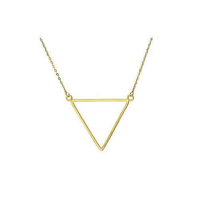 Women's Gold Triangle Charm Necklace