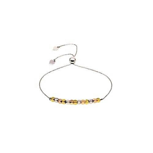 Silver Multi Coloured Lariat Bracelet