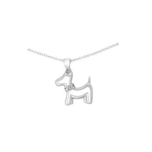 Silver Yorkshire Terrier Dog Necklace