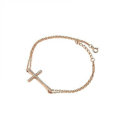 Rose Gold Cross Bracelet