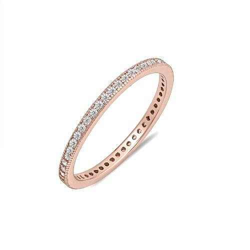 Rose Gold CZ Eternity Ring