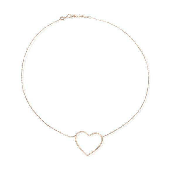 Women's Rose Gold Heart Charm Necklace - G.D.Morgan Jewellery Collection