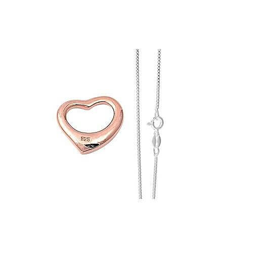 Open Heart Rose Gold Necklace