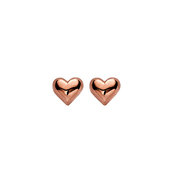 Rose Gold Heart Stud Earrings