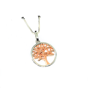 Rose Gold Tree of Life Necklace