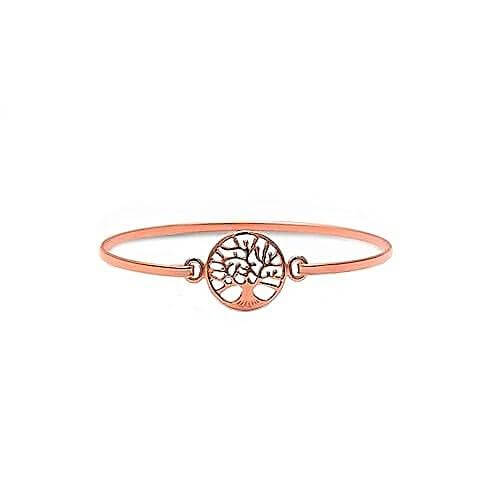 Rose Gold Tree Of Life Bangle