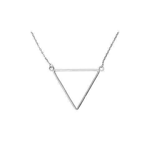 Women's Sterling Silver Triangle Charm Necklace