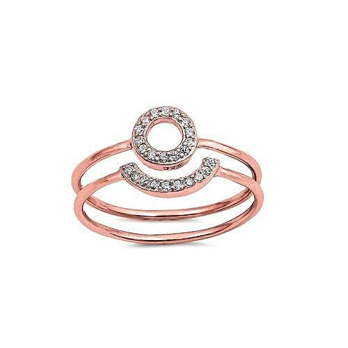 Rose Gold Two Piece Midi Ring