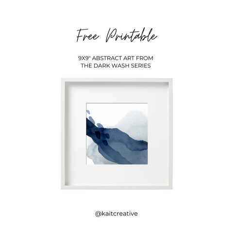 Free Printable art  from the Dark Wash Series