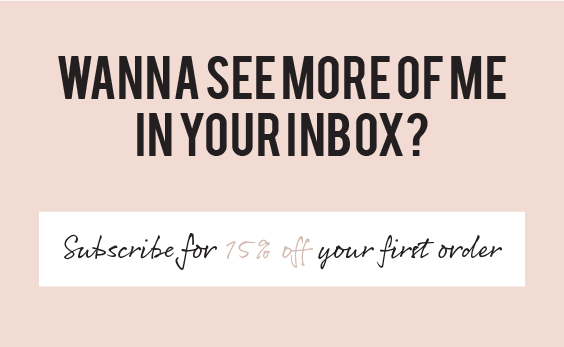 Wanna see more of me in your inbox?