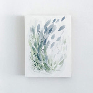Forest & Rain #6 - Original Abstract Artwork with by watercolour artist kait DeWolff of Vancouver, BC Canada.