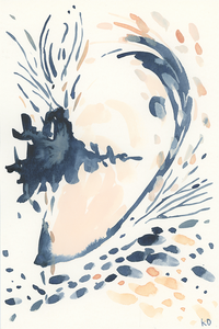 Mussel Movement #5 - Original Watercolour Artwork $20CAD by @kaitcreative