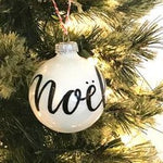Noel | Hand Lettered Ornament by kaitcreative
