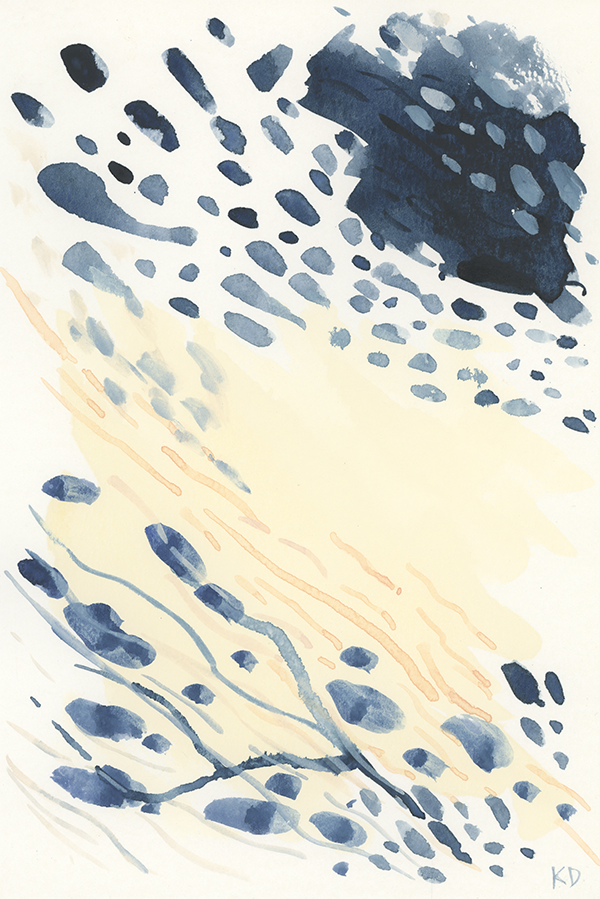 Mussel Movement #6 - Original Watercolour Artwork $20CAD by @kaitcreative