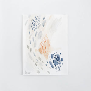 Mussel Movement #10 - $95CAD - Abstract watercolour artwork by artist Kait DeWolff @kaitcreative est coast art, blue abstract art, minimal art #minimalart #watercolour #abstractpainting