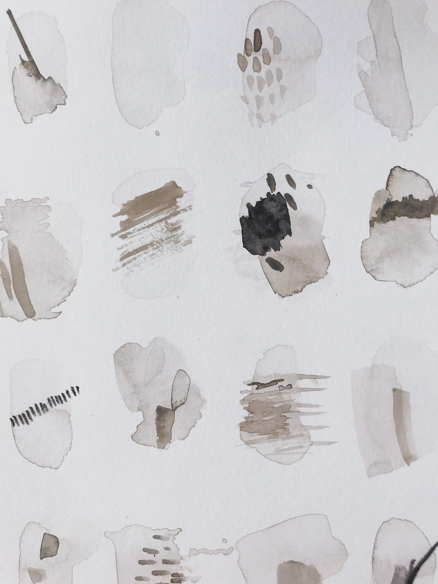 "Detail - Neutral 39, 9x12"". Minimal abstract art by kait dewolff @kaitcreative, $72CAD"