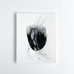 Stay 11 - Neutral, Black and white abstract painting on paper by artist Kait DeWolff. Kaitcreative