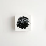 Stay 25 - Neutral, Black and white abstract painting on paper by artist Kait DeWolff. Kaitcreative