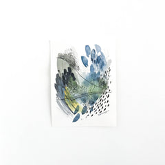 Forest & Rain #1 - Original Abstract Artwork with by watercolour artist kait DeWolff of Vancouver, BC Canada. BUY NOW $75