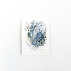 Forest & Rain #2 - Original Abstract Artwork with by watercolour artist kait DeWolff of Vancouver, BC Canada. BUY NOW $75