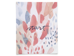 Start - Abstract art print featuring positive action words of encouragement.