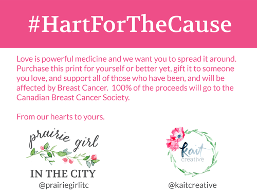 #HartForTheCause | Breast Cancer Awareness Month kaitcreative.com