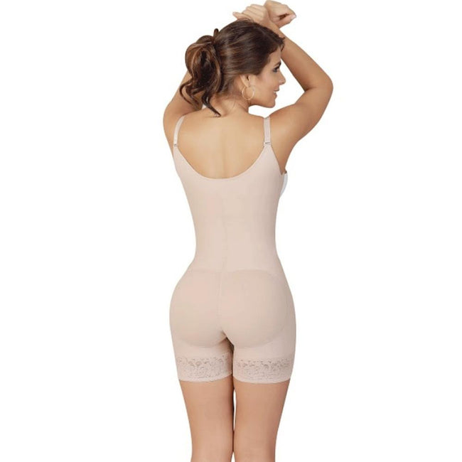 Faja-Salome-0216-High-Back-Thin-Straps-Body-Shaper-compression-Butt-Lifter-Shorts-Beige